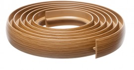 Bendable Coverstrip 3m (10ft) Dark Oak