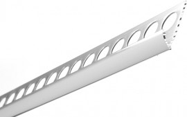 Trojan Round Edge Tile Trim 6 mm 2.5m Silver Polished