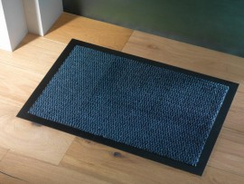 Trojan Ulticlean Dust Mat 90x120cm Blue/Black
