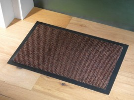Trojan Ulticlean Dust Mat 90x120cm Brown/Black