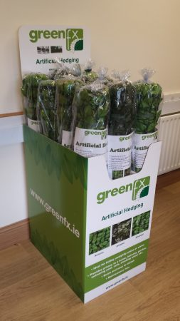 GreenFx Artificial Roll Hedging Display Box - W43cm x D60cm x H80/129cm