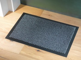 Trojan Ulticlean Dust Mat 90x120cm Grey/Black