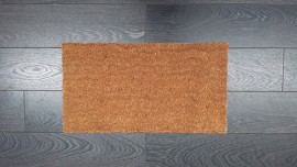 Natural Plain Coir Latex Backed Mat 33x60cm