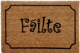 "Coco Vinyl backed Flocked Mats 40x60cm ""Failte"""