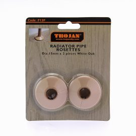 Trojan Plastic Rosettes 15mm – (Prepacked 2) White Oak