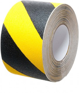 Safety Grip Hazard 100mm x 18.3m Black/Yellow