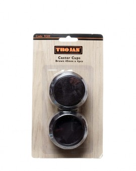 Trojan Castor Cups Brown 45mm (4 pieces)