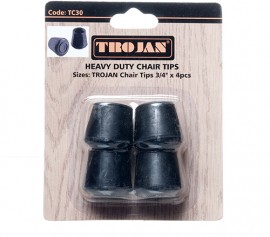 Trojan Chair Tips 3/4″ Black (4 pieces)