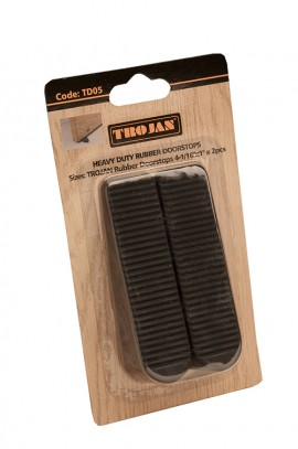 Trojan Rubber Doorstops Black (2 pieces)