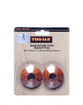 Trojan Plastic Rosettes 15mm Woodgrain – (Prepacked 2) Dark Cherry