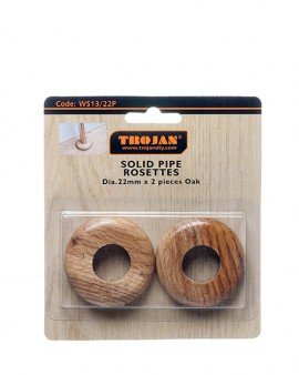 Trojan Solid Rosettes 22mm Split – (Prepacked 2) Oak