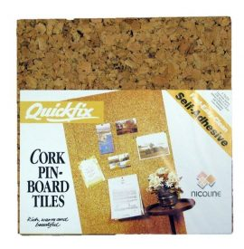 Pinboard Self-Adhesive Cork Wall Tiles (set of 4) 0.36m2 / 4 sq ft