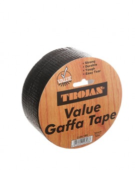 Trojan Black Gaffa Tape 50mm x 50m (12 rolls per box)