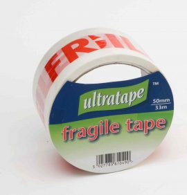 Fragile Tape 50mm x 33m Red/White