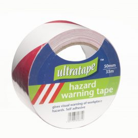 Ultratape Red/White Hazard Tape 50mmx33m