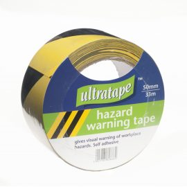 Ultratape Black/Yellow Hazard Tape 50mmx33m
