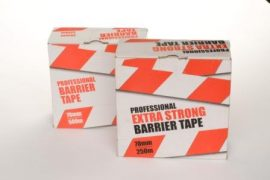 Pro Extra Strong Barrier Tape 70mm x 250m Red/White