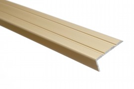 Trojan S/A Angle Edge 25mm x 8mm 2.7m Goldx 8mm 2.7m Gold