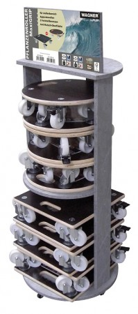 Multi Roller Maxi Grip Display Stand
