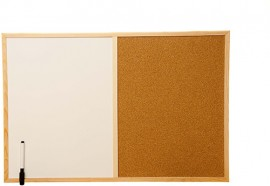 Combi Boards (1/2 Cork / 1/2 Write-on/Wipe-off) 60cm x 40cm
