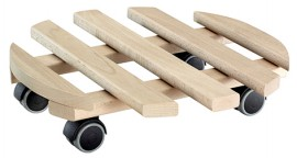 Multi Roller BEECH D350mm,beech,naturel4xTW,d40mm,soft,LC100kg