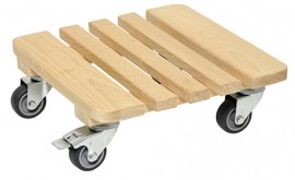 Multi Roller 290x290mm,beech,naturel4xEC,d50mm,soft,1xBr.,LC200kg