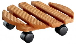 Multi Roller COUNTRY D300mm,pine,riffl.,chestnut4xTW,d40mm,LC100kg