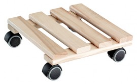 Multi Roller BEECH 250x250mm,beech,naturel4xTW,d40mm,soft,LC100kg