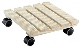 Multi Roller COUNTRY 280x280mm,pine,riffl.,naturel 4xTW,d40mm,soft,LC100kg