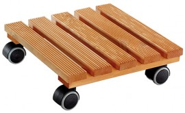 Multi Roller COUNTRY 280x280mm,pine,riffl.,chestnut 4xTW,d40mm,soft,LC100kg
