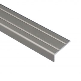 Trojan S/A Angle Edge 25mm x 8mm 0.9m Brushed Silver
