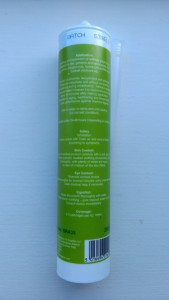 GRA35 Artificial Grass Adhesive - Back of Label