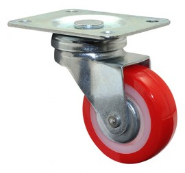 Wagner SWIVEL CASTOR D50mm,PU,zinced,LC50kg (01 2150 01)