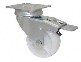 Wagner EQUIP.SWIVEL CASTOR ECO D50mm,PP,PB,t.brake,50kg(03 3250 01)
