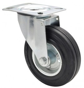 Wagner TRANSPORT SWIVEL CASTOR D125mm,VR,STSH,RB,100kg(04 6124 01)