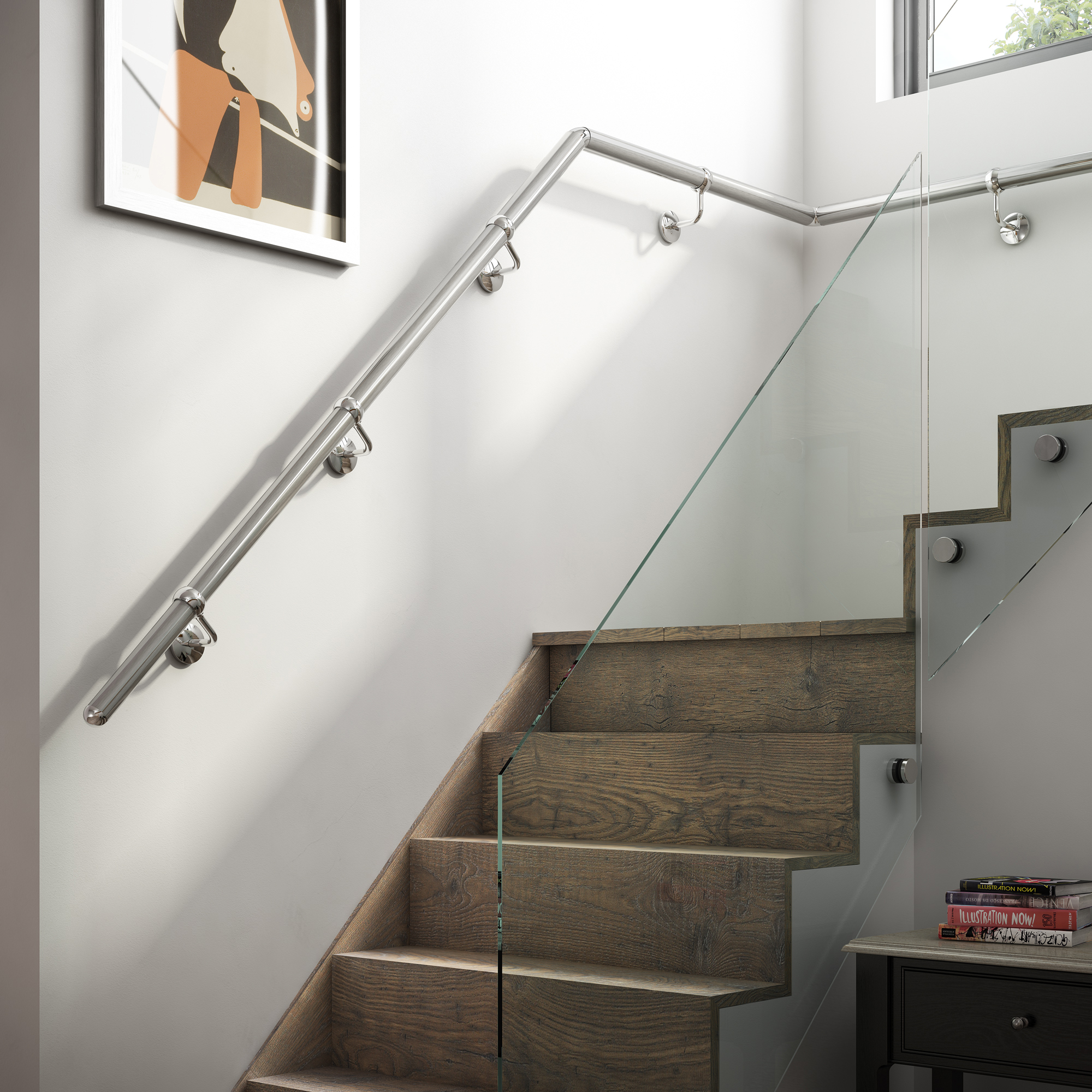 Rothley handrail system ds supplies for Exterior wall mounted handrails for stairs