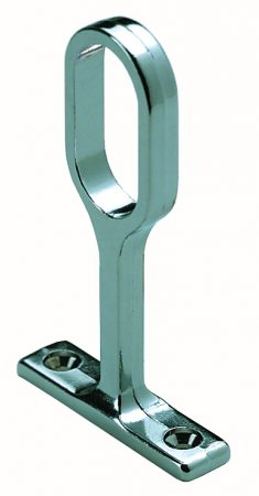 Rothley Oval Centre Brackets (1) Chrome 30mm x 15mm