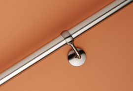 Rothley Brushed Nickel 40mm Diameter Handrail 2.4m