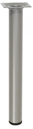 STEEL TUBE LEG D30mm, L300mm, Aluminium/Grey 12123001