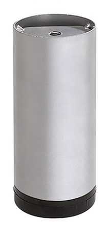 DESIGN-LEG TENO D60mm, L100mm, Aluminium/Grey 12341701
